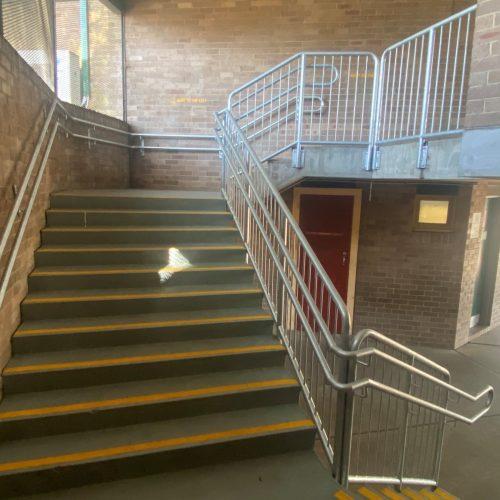 wilkins public school handrails install 2-min