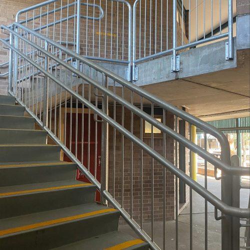wilkins public school handrails install 3-min