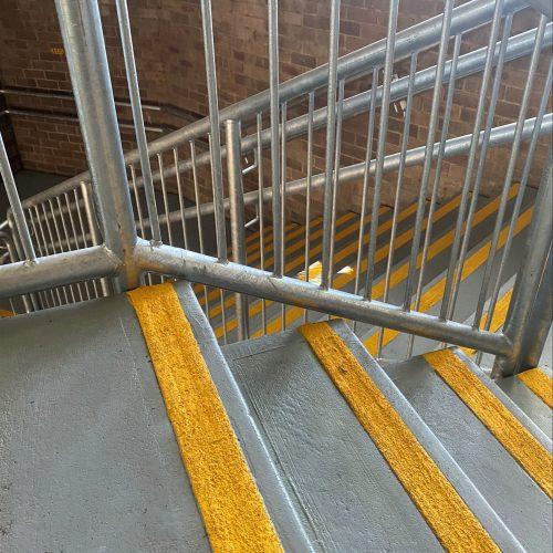 wilkins public school handrails install 5-min