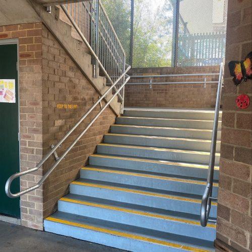 wilkins public school handrails install-min