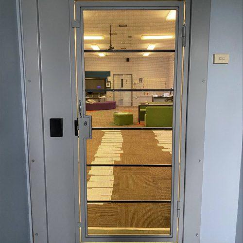 Ajuga School Security Door Installation 2