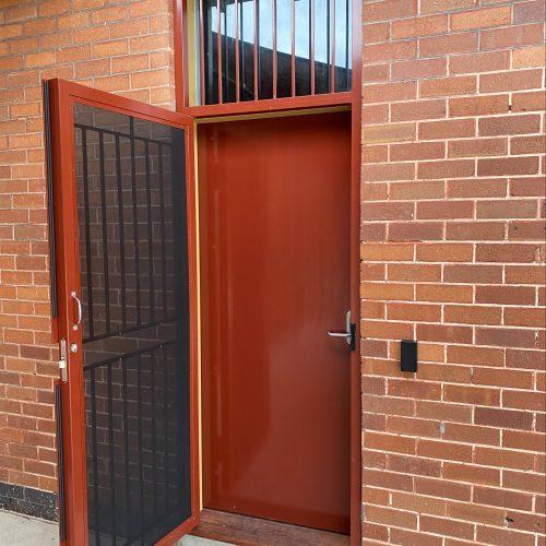 Ajuga School Security Door Installation Brickwork Door