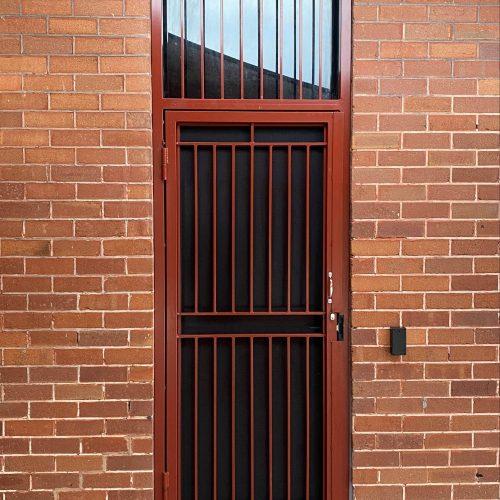 Ajuga School Security Door Installation Brickwork and Exterior