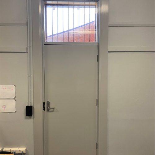 Ajuga School Security Door Installation Room View